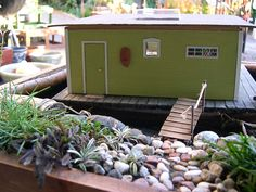 Miniature Garden With Houseboat