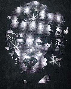 Marilyn Monroe Diamante Iron on design