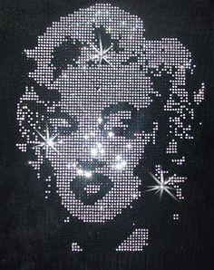 Marilyn Monroe Diamante Iron on design