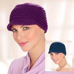 Newsboy Visor Cancer Hat, Hats for Cancer Patients, Cancer Headcovers, Cancer Patient Headwear - TLC