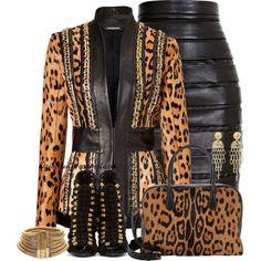 """Balmain Skirt"" by oribeauty-cosmeticos on Polyvore"