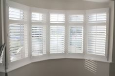 Wooden Shutters for Bay Windows – How to Identify The Type of Bay Window in Your Home – Hazir Site Wooden Shutters, Home, Blinds For Windows Living Rooms, House Renovation Projects, Interior Window Shutters, New Homes, Bay Window Shutters, Interior And Exterior Angles, Blinds For Windows
