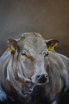 ..::Corrie Thonissen::..Schilderijen van koeien en ander vee / sfeervolle interieurs Cow Pictures, Cow Art, Cattle, Farm Animals, Artsy Fartsy, Watercolor, Drawings, Artwork, Paintings