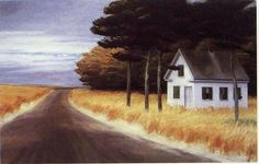 Solitude, 1944 by Edward Hopper on Curiator, the world's biggest collaborative art collection. American Realism, American Artists, Edward Hopper Paintings, Art Pictures, Photos, Art Pics, Cider House, Ashcan School, Colors