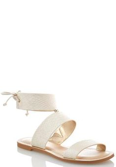 5a1a691f5982 Cato Fashions Snakeskin Ankle Cuff Sandals  CatoFashions Wide Shoes