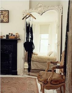 floor-length venetian mirror