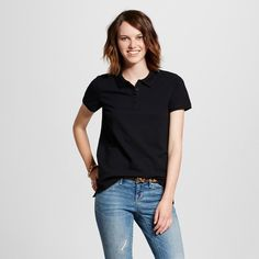 Women's Polo Shirt Black Xxl - Mossimo Supply Co.
