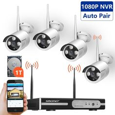 c41c6b68a81 4CH 1080P NVR HD Wireless 720P IP Camera Outdoor WiFi Home Security System  0 1TB