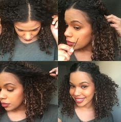 Pin by Cool Hair Extensions on Real Hair Extensions in 2019 Curly Hair Styles, Natural Hair Styles, Real Hair Extensions, Natural Hair Inspiration, Twist Hairstyles, Hair Dos, Hair Hacks, Hair Beauty, Beauty Tips