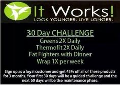 Who is ready for a challenge? #Greens #Thermofit #FatFighters #Wraps Be ready to achieve some amazing results! #wrapmewealthyfb wrapmewealthy,com