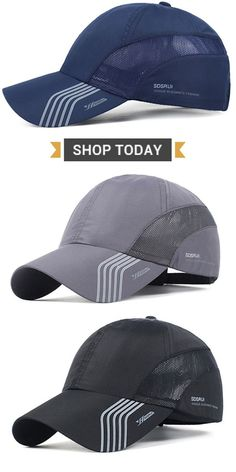 4f5efaaf24c225 Mens Thin Breathable Quick Dry Baseball Cap Sunshade Leisure Outdoor Mesh  Hat is hot sale on Newchic.