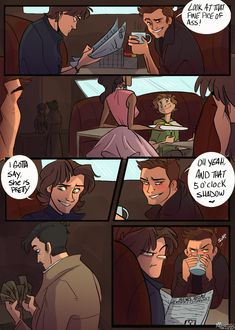 Read A Destiel Comic! from the story Some Random Fanart by (Jake A. Sam's face in the last panel is. Supernatural Drawings, Supernatural Tattoo, Supernatural Pictures, Supernatural Fan Art, Supernatural Wallpaper, Johnlock, Destiel Fanart, Destiel Fanfiction, Supernatural Cast