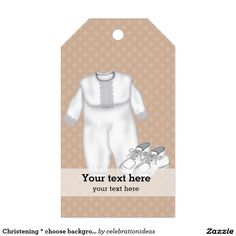 Sold #Christening * choose background color #gifttags #baptism Available in different products. Check more at www.zazzle.com/celebrationideas
