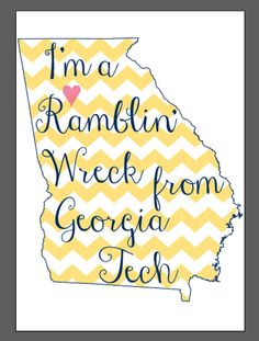 Ramblin' Wreck from Georgia Tech Digital Print by CollegePrintDesign on Etsy, $10.00