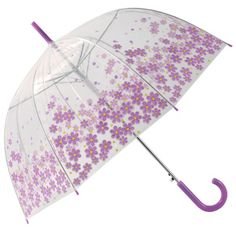 Lilac Daisy Dome Umbrella (a little too cute, but I like that it's see-through)