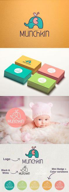Munchkin Branding by OneGiraphe Kids Branding, Logo Branding, Branding Agency, Logo For Kids, Black And White Logos, Black White, Sale Logo, Logo Design Inspiration, Baby Brands