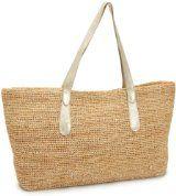 Flora Bella Women's Bastimentos Woven Leather Tote Bag