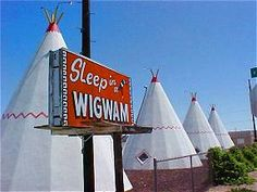 One of the most interesting, and probably most photographed Route 66 attractions is the Wigwam Motel. Originally built in 1950, it has survived the demise of the Mother Road and proudly asks  Have You Slept in a Wigwam Lately?  There are only two Wig Wam Motels left along Route 66 today; Arizona & California