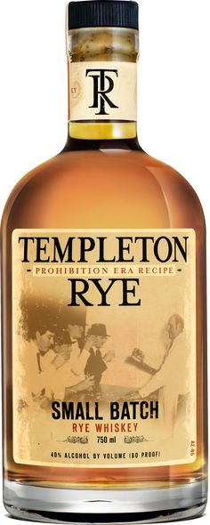 Templeton Small Batch Rye: ignore the Prohibition-era hype; this rye can definitely stand on its own without the clever marketing. Rich, sweet with an easy finish. Best Rye Whiskey, Scotch Whiskey, Bourbon Whiskey, Fun Drinks, Yummy Drinks, Alcoholic Drinks, Beverages, Templeton Rye, Spirit Drink