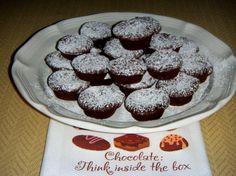 Mini Flourless Espresso Chocolate Cupcakes. Sub stevia/no cal sweetner of choice for sugar.