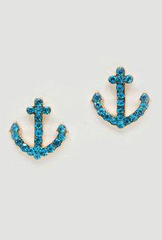 Crystal Nautical Earrings