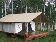 Building a tent platform