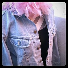 Vintage Lee Denim Boho Jacket 100% Cotton Lee denim jacket boho light-wash Great to turn into a cut-away. Add a scarf and a tight pair of white or black Levis, pair of boots BLAM! Lee Jackets & Coats Jean Jackets