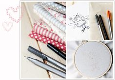 How to transfer your embroidery design onto fabric - Red Brolly