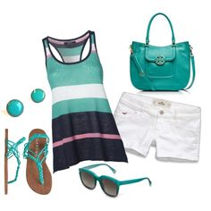 Summer by honeybee20 on Polyvore featuring GANT, Hollister Co., Billabong, Tory Burch and Coach