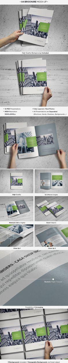 A4 Brochure / Catalog Mock-up by Pune, via Behance