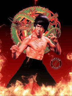 Bruce Lee - Enter the Dragon Bruce Lee Art, Bruce Lee Martial Arts, Bruce Lee Photos, Lee Movie, The Boss Bruce, Legendary Dragons, Enter The Dragon, Martial Artists, Chuck Norris