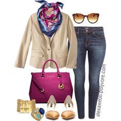 "#plus #size #Spring ""Spring Blazer - Plus Size"" by alexawebb on Polyvore"