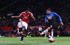 Manchester United 3 Bournemouth 1: Marcus Rashford proved his England credentials by lashing home to double Manchester United's lead.