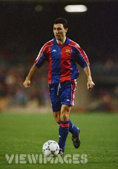 Hristo Stoichkov of FC Barcelona and Bulgaria