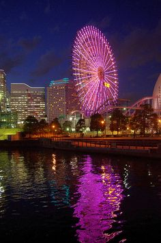 Wheel by the water in Yokohama-shi, Kanagawa Prefecture, JP by runslikethewind83, via Flickr