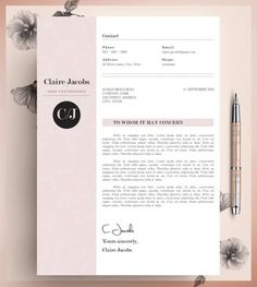 creative resume template cv template instant by cvdesignco on etsy cv pinterest creative resume templates cv template and creative - Lebenslauf Word Download