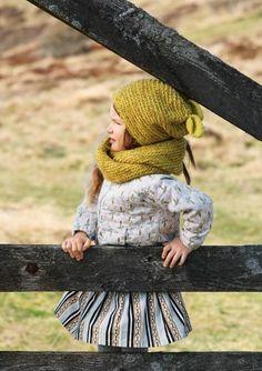 #knit #pattern for #kids, beanie and buff - Ørelue og Hals