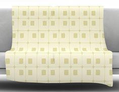 Squares in Squares by Fotios Pavlopoulos Fleece Throw Blanket