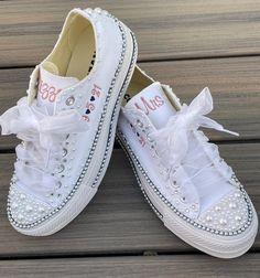 Excited to share this item from my #etsy shop: Embroidered Pearl Wedding shoes, Platform or traditional all star, Pearl encrusted Sneaker (Low Top) Bride shoes, Converse Wedding Sneakers, Wedding Converse, Wedding Shoes, Groom Shoes, Bride Shoes, Converse Low Tops, Converse All Star, Monogram Converse, Monogram Wedding