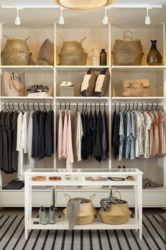 The IKEA ELVARLI system is the perfect clothing storage for any space! You choose how to combine ELVARLI products to create the storage you need, whether you want a reach-in closet, walk-in wardrobe or clothing nook!