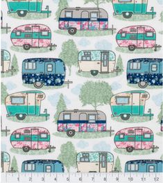 Super Snuggle Flannel Fabric Floral Campers And Pines Personalized Gift Cards, Flannel Pajama Pants, Vintage Campers Trailers, Personalised Blankets, Minky Blanket, Drapery Fabric, Joanns Fabric And Crafts, Cushion Covers, Vintage Floral