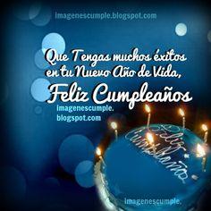 Feliz Cumpleaños y Muchos Éxitos. Imágenes de cumpleaños gratis por Mery Bracho. Tarjetas lindas para hombre o mujer en su cumple.