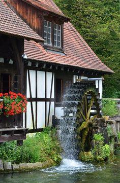 Watermill in Blaubeuren, Baden-Württemberg, Germany