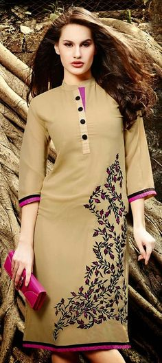 423861: EARTHEN TONES - this #tunic is what you need to balance the heat of summers.