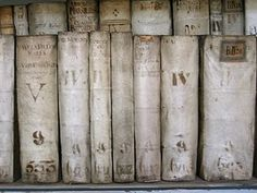 ~ lovely old white books