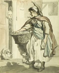 Paul Sandby, 'Rare Mackerel, Three a Groat or Four for a sixpence'
