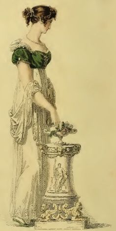 Regency Era Clothing: Regency Era Fashion Plates - March 1814 Ackerman's Repository