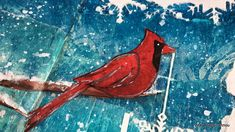 Clips-n-Cuts | Art Journal | Winter cardinal | http://www.clips-n-cuts.com