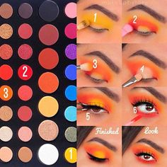 Cubana Chronicles – Living a healthy & successful life. Cubana Chronicles – Living a healthy & successful life.,Make up ❤️❤️❤️ colorful yellow and orange eye makeup Makeup Eye Looks, Eye Makeup Steps, Cute Makeup, Eye Makeup Art, Makeup Stuff, Makeup Kit, Eyebrow Makeup, Makeup Goals, Makeup Geek