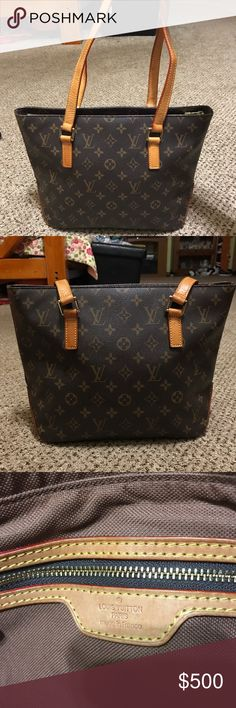 Louis Vuitton Cabas tote bag Great condition. All flaws and wear are shown in the pictures. Wear on straps, water stain on the inside and leather color variation. Louis Vuitton Bags